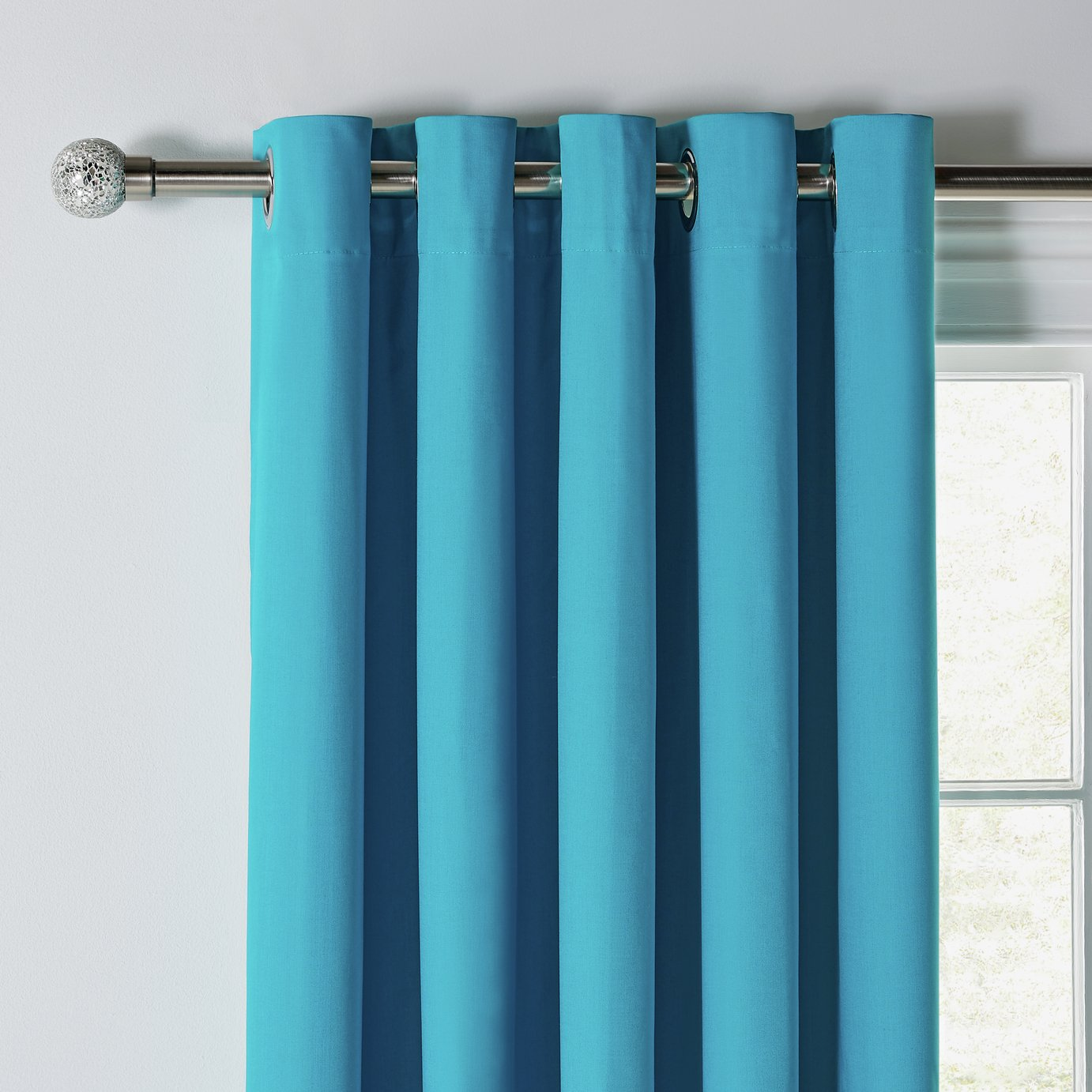 Argos Home Blackout Thermal Curtains - 117x137cm - Teal