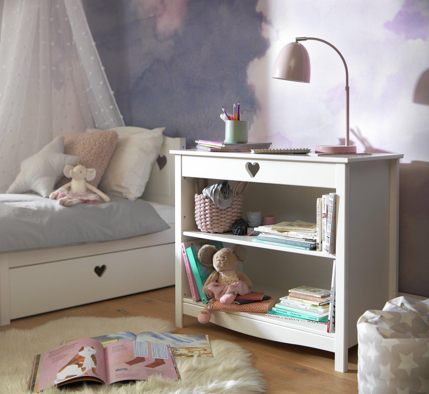 Argos Home Mia White 3 Shelf Bookcase
