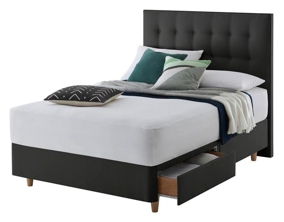 Silentnight Alaro Ebony Divan Bed - Double