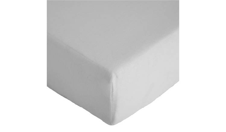 Argos Home 26cm Fitted Sheet - Double