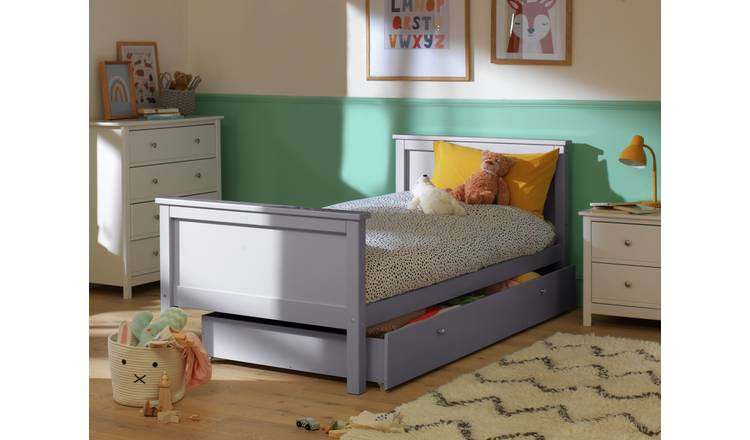 separation shoes 22d8c 74db2 Buy Argos Home Brooklyn Grey Single Bed with Drawer   Kids beds   Argos