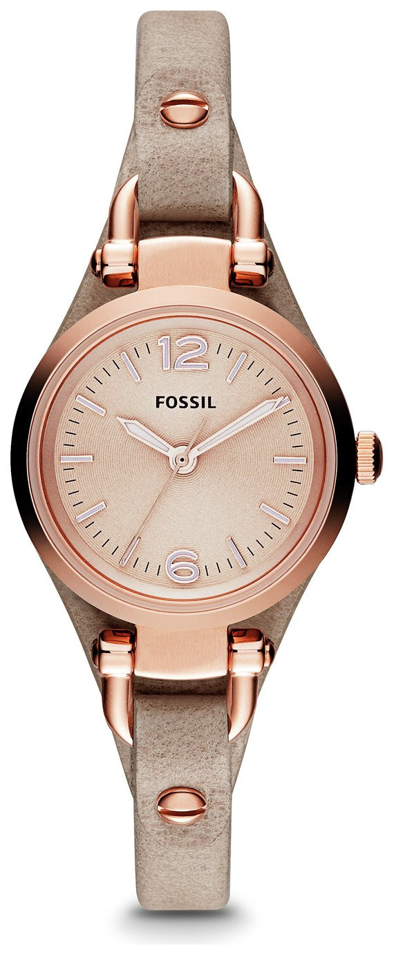 Fossil Georgia Ladies' ES3262 Rose Gold/Sand Leather Watch