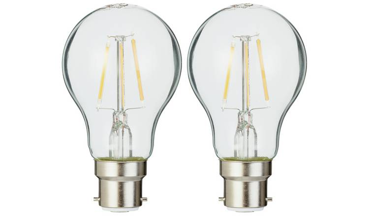 Osram 4W Filament LED BC Classic Glass GLS Bulb - Twin Pack