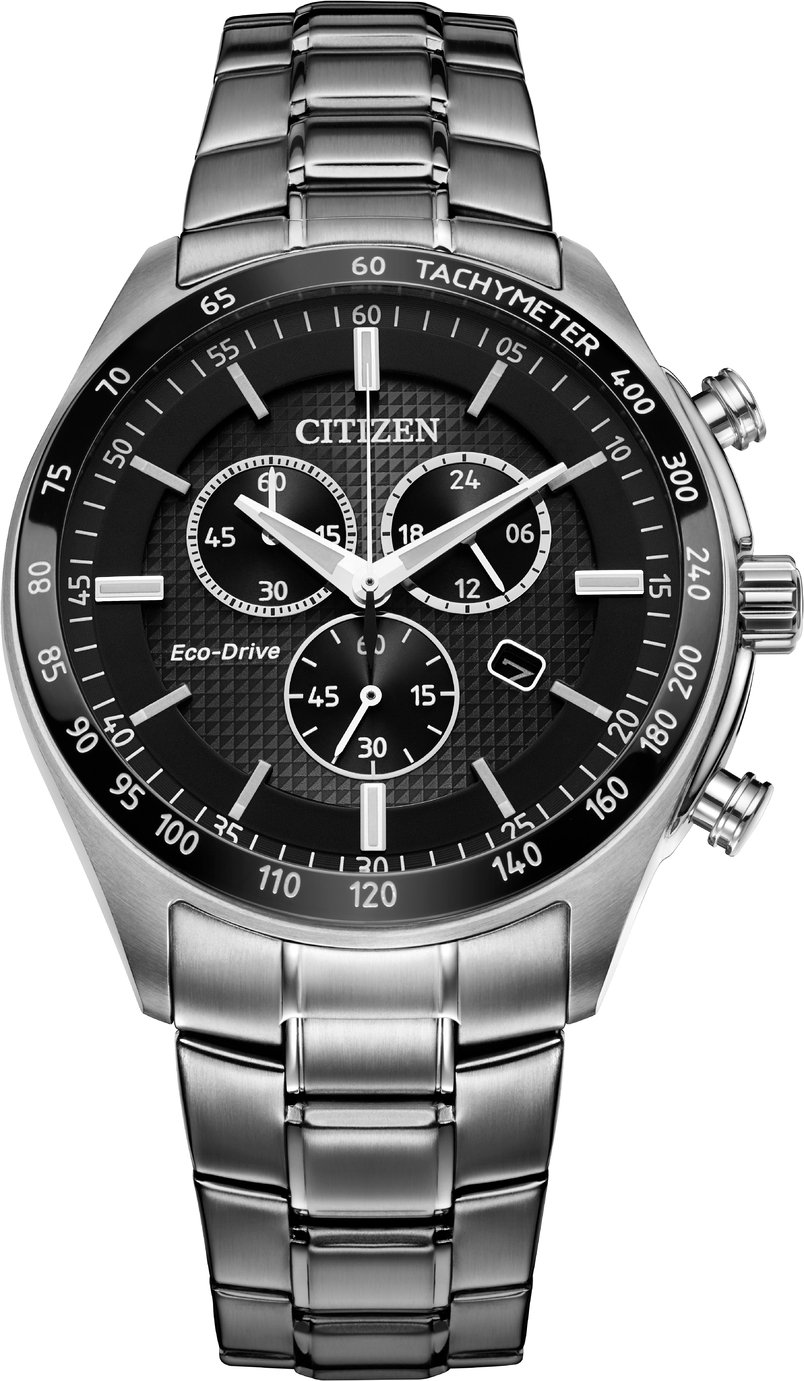 Citizen Men's Eco-Drive Black Chronograph Watch
