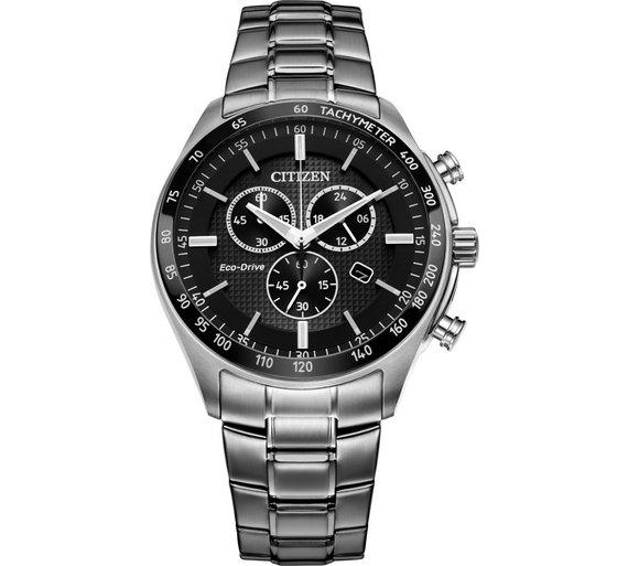 Buy Citizen Men s Eco-Drive Black Chronograph Watch  fc8f23291