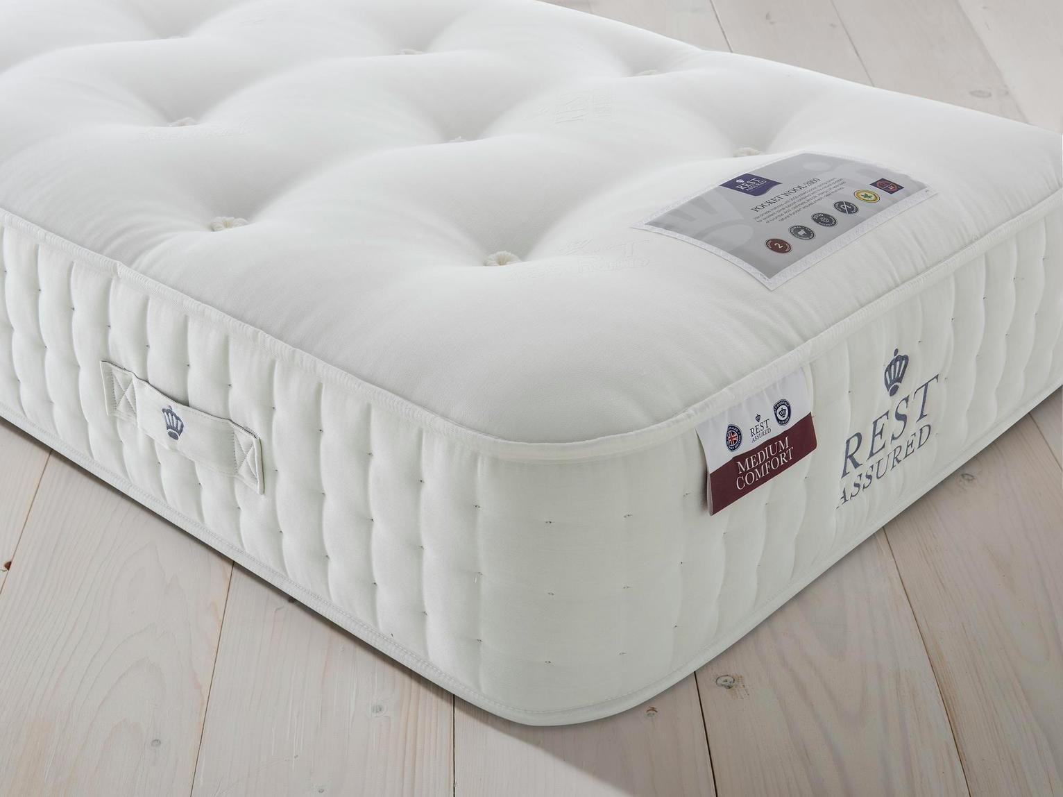 Rest Assured Naturals Pocket Sprung Single Mattress - Medium