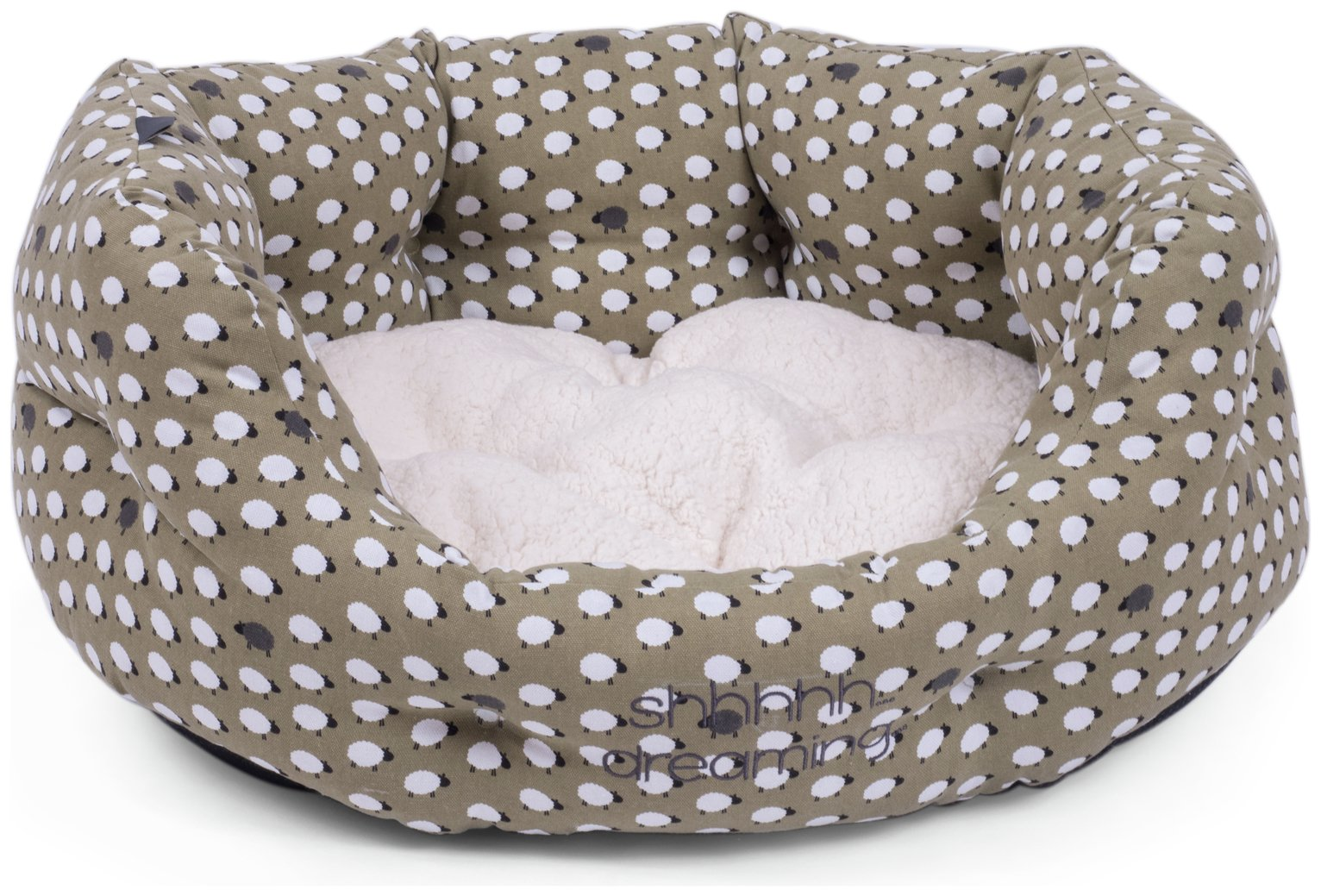Petface Small Oval Bed - Sheep