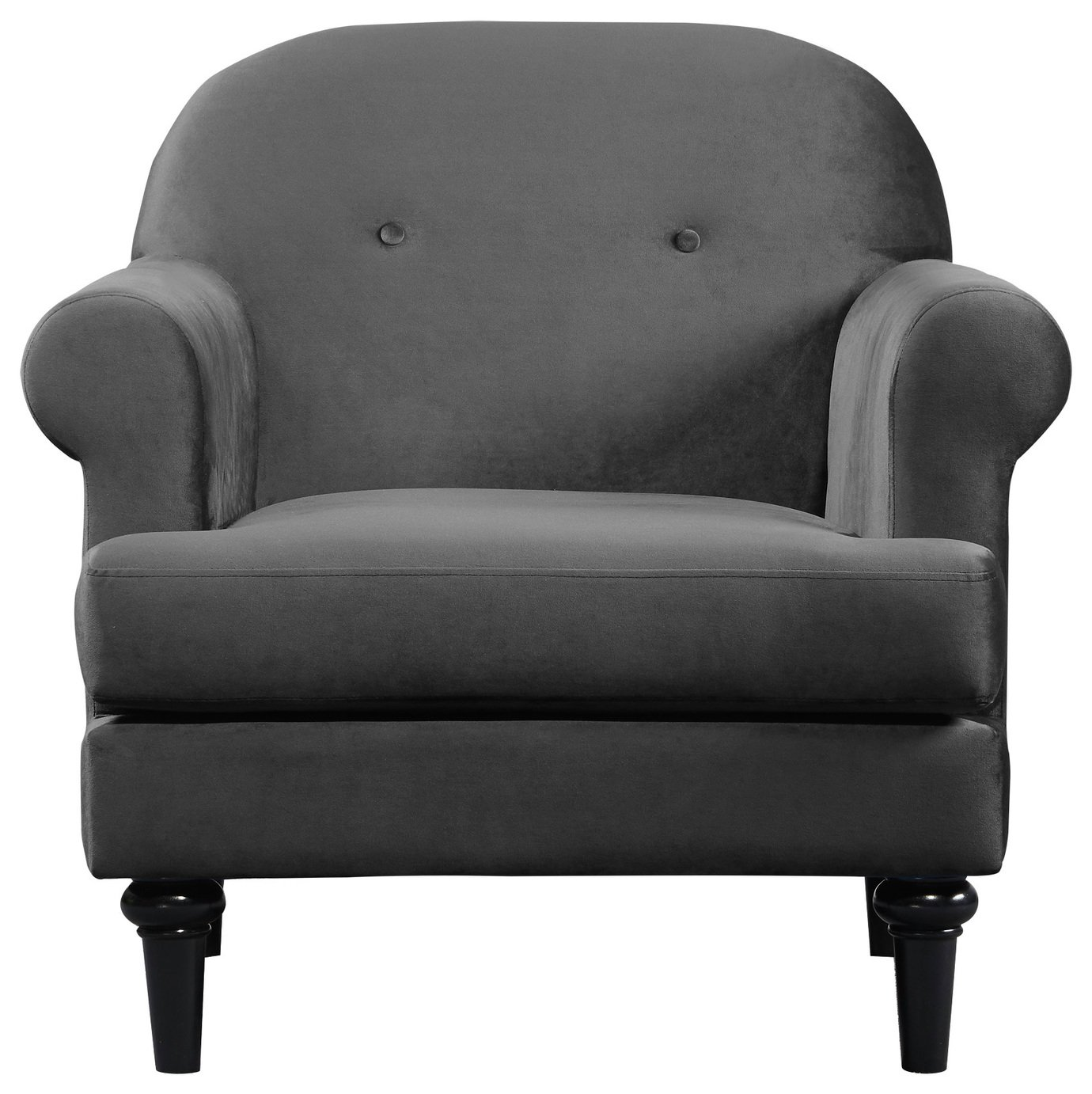 Argos Home Whitney Velvet Armchair - Charcoal