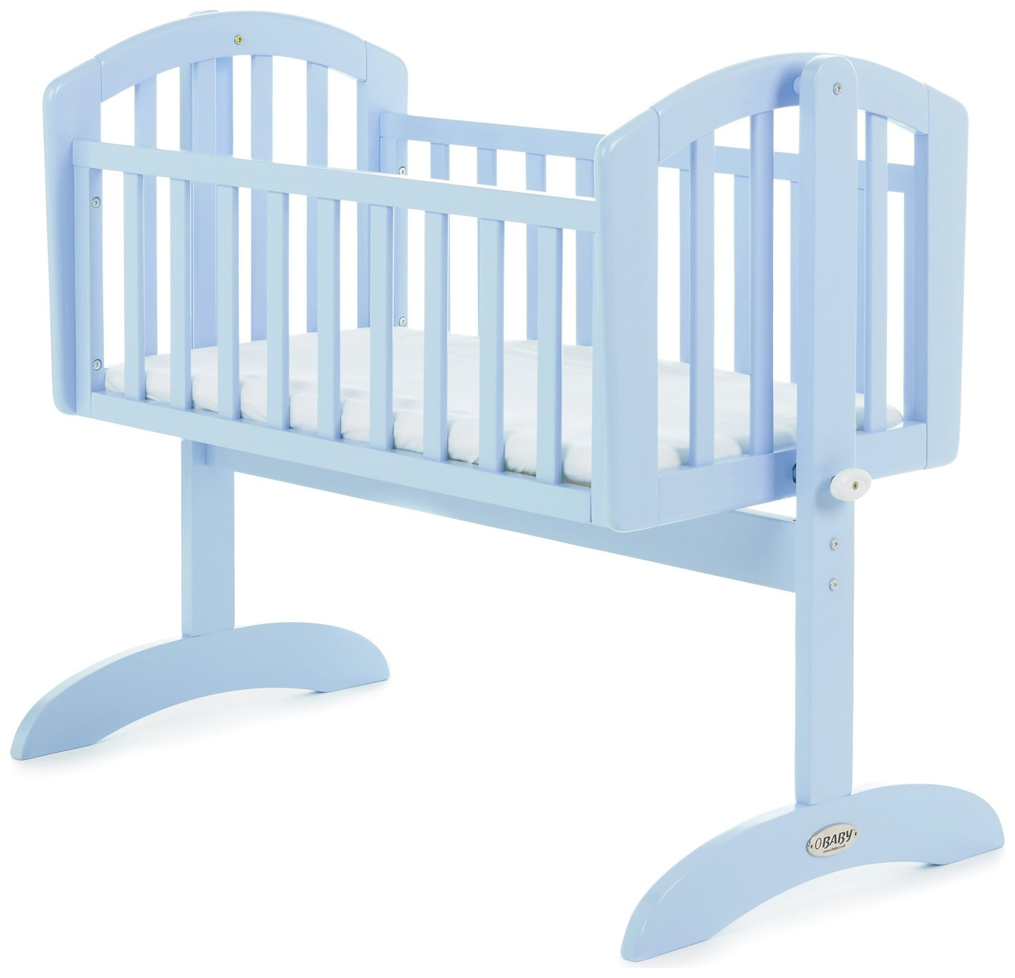Image of Obaby Sophie Swinging Crib and Mattress - Bonbon Blue