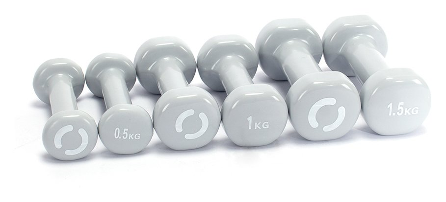 Opti Vinyl Dumbbell Case Set - 6kg