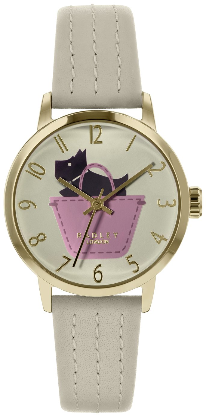 Radley Ladies' Border RY2288 Cream Leather Strap Watch