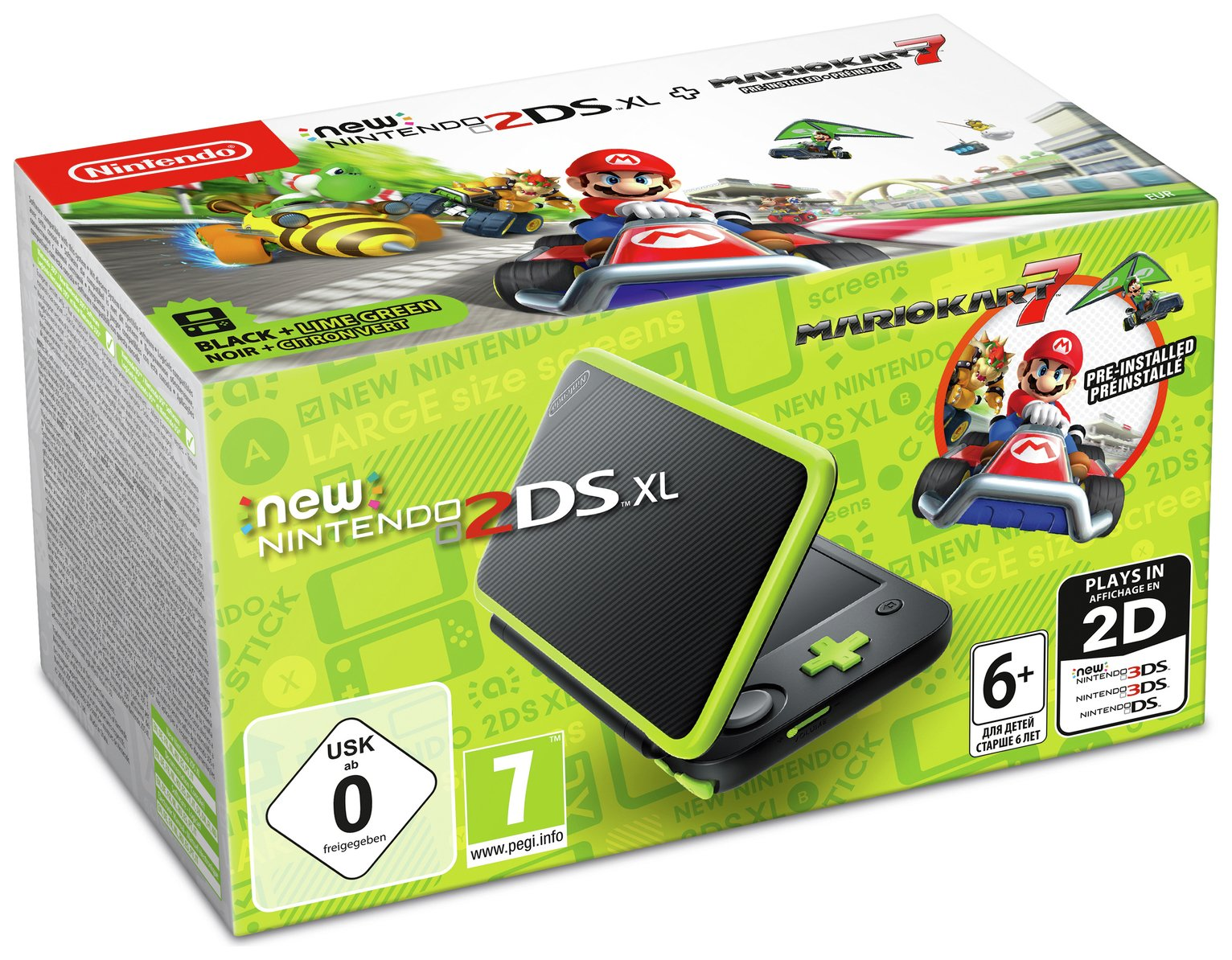 Nintendo 2DS XL Console with Mario Kart 7