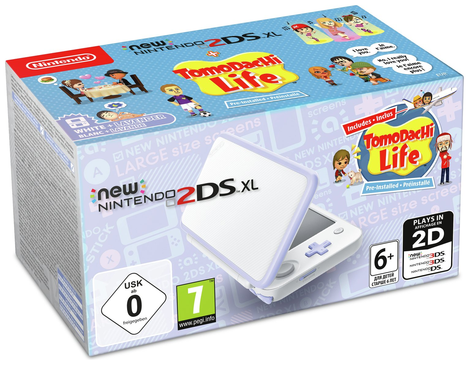 Nintendo 2DS XL Console with Tomodachi