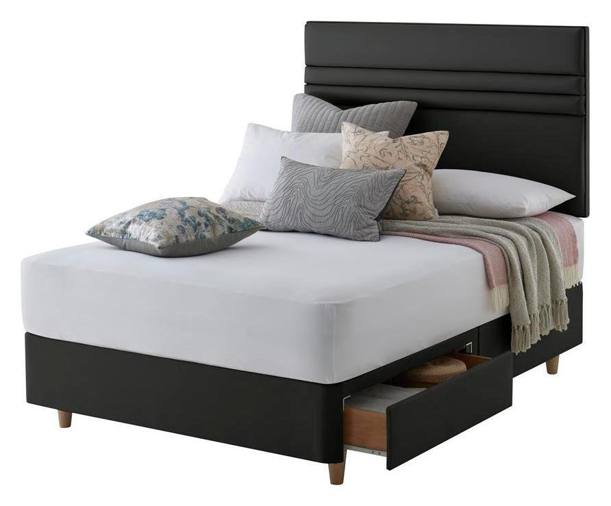 Silentnight Roma Charcoal Divan Bed - Double