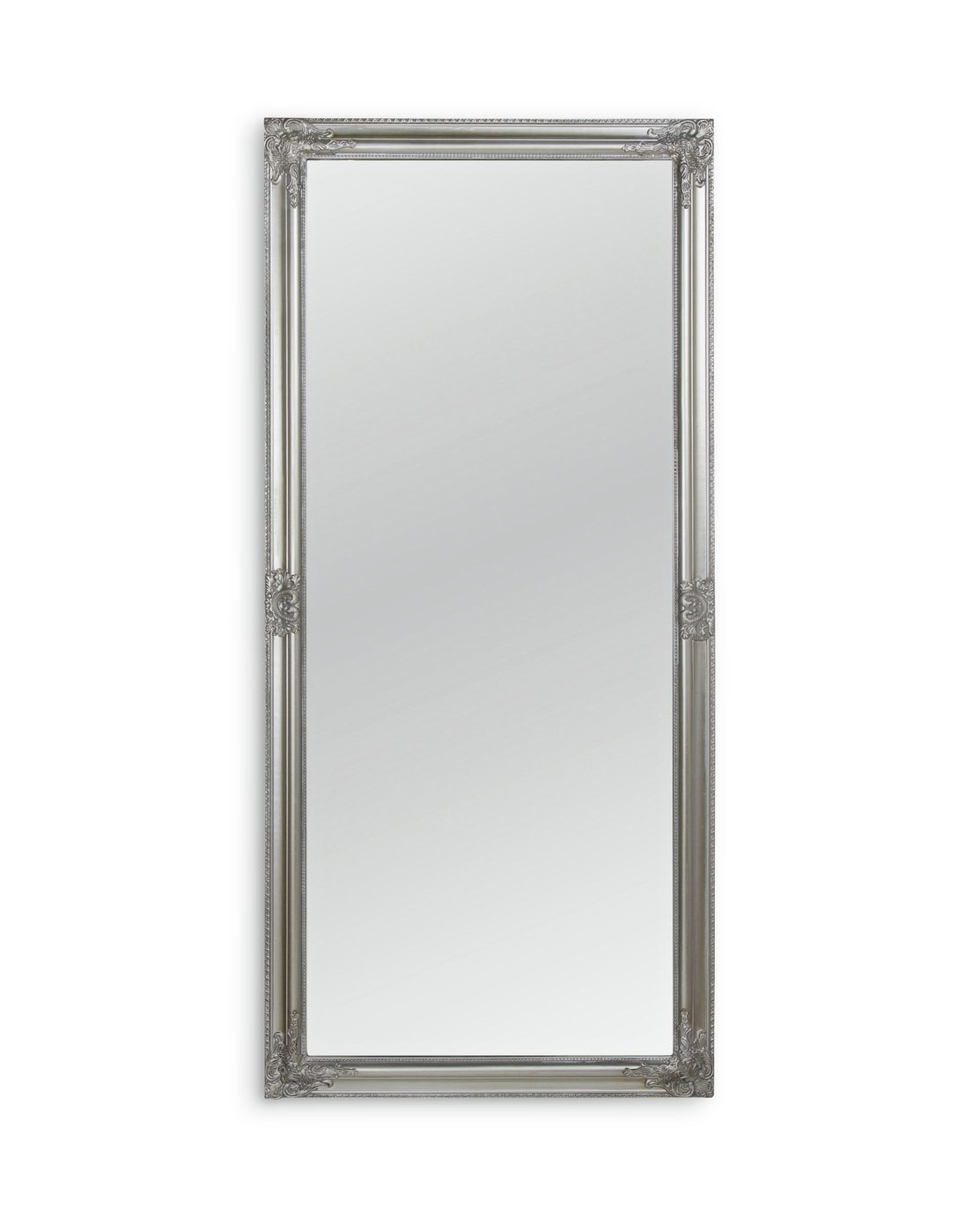 Argos Home Charlotte Rec Ornate Leaning Mirror - Silver