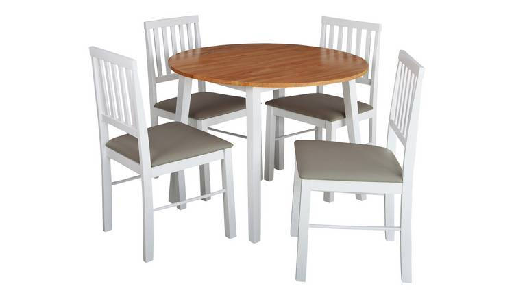 Argos Home Kendal Solid Wood Extending Table & 4 Chairs