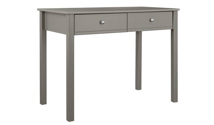 Argos Home Brooklyn 2 Drawer Desk - Grey