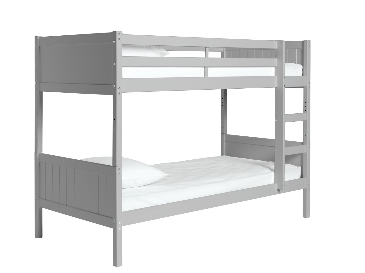 Argos Home Detachable Grey Bunk Bed & 2 Kids Mattresses
