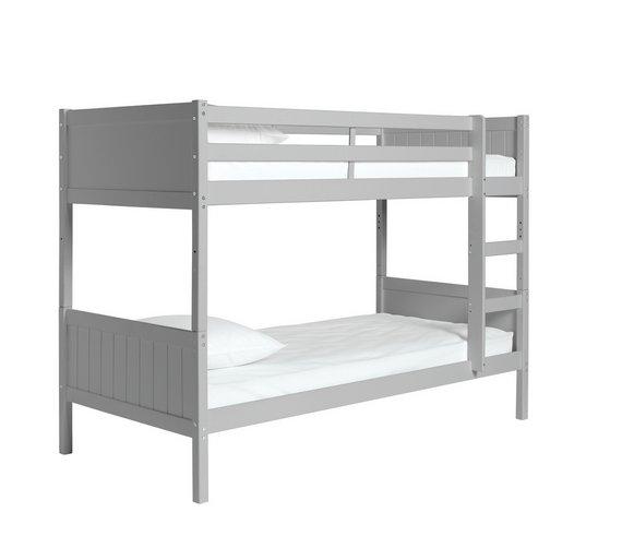 Buy Argos Home Kids Detachable Bunk Bed With 2 Mattresses Grey