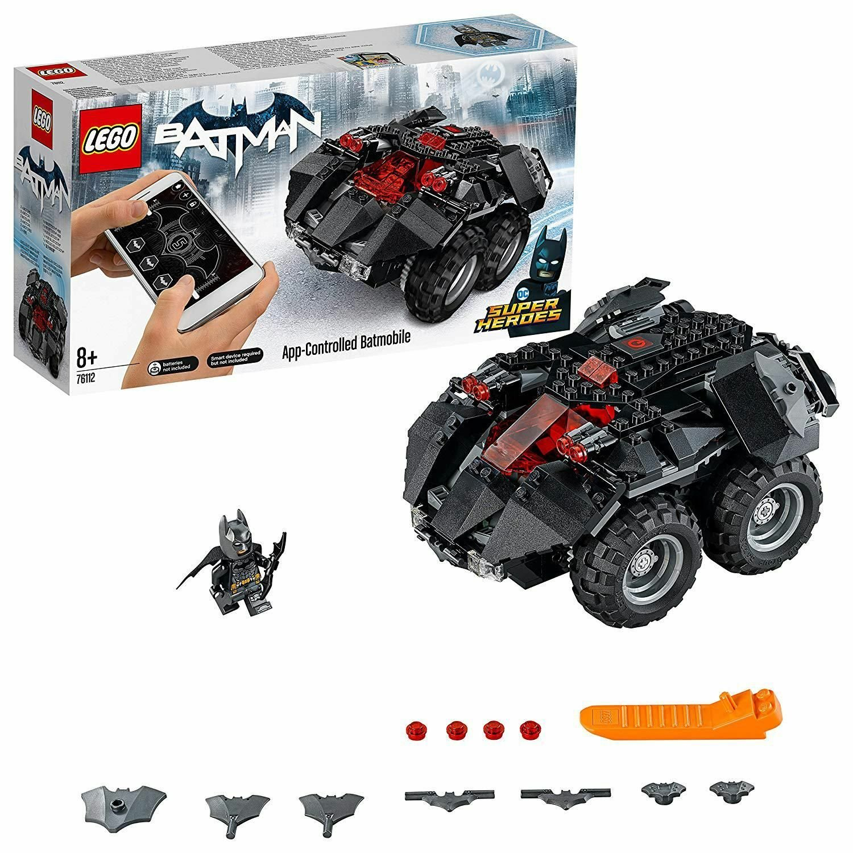 LEGO DCComics Batman App Controlled Batmobile Toy Car- 76112
