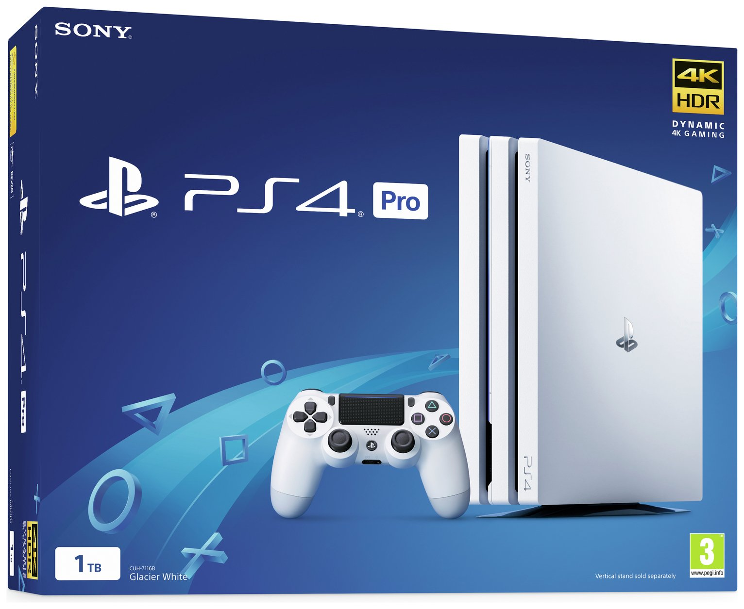 Sony PS4 Pro 1TB Console - White