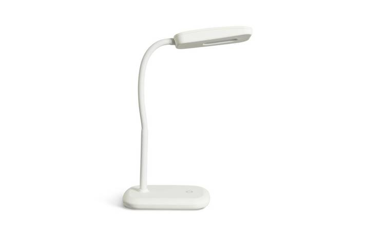 Argos Home Silby LED Soft Touch Desk Lamp - White