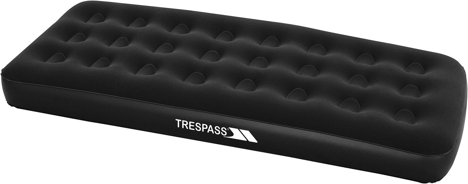 Trespass Single Flocked Air Bed with Mains Pump