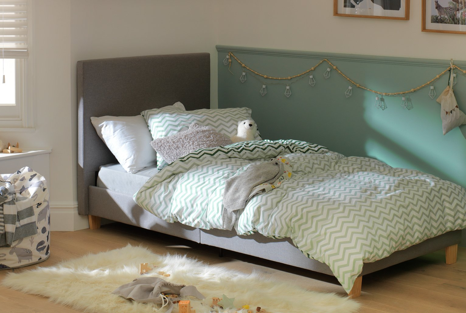 Argos Home Oliver Grey Single Bed in a Box