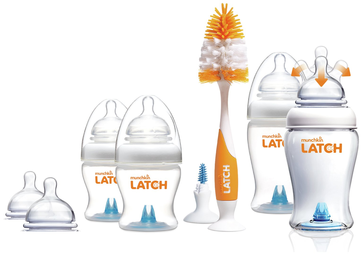 Image of Munchkin Latch Newborn Bottle and Teats Starter Set