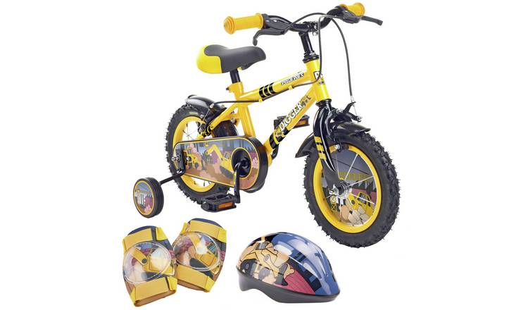 Pedal Pals Digger 12 inch Kids Bike, Helmet and Knee Pads