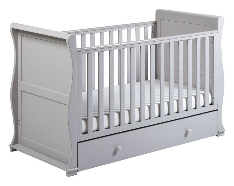 Image of Alaska Cot Bed - Grey