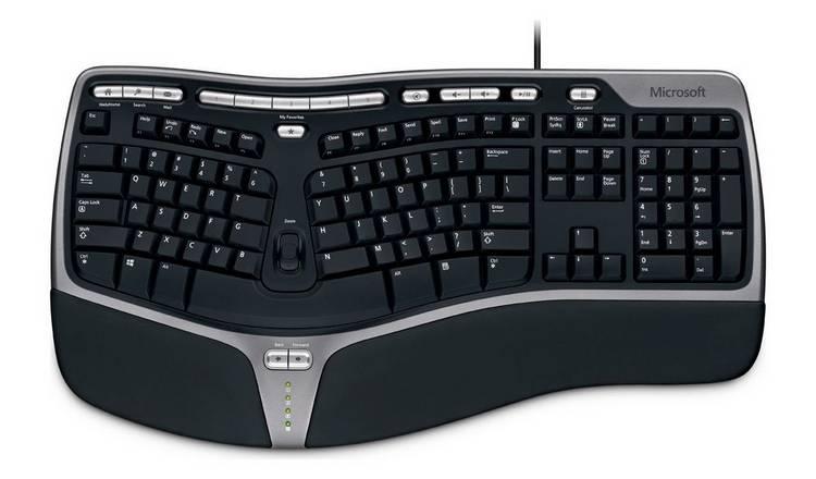 c95de74bab7 Buy Microsoft 4000 Ergonomic Wired Keyboard   PC keyboards   Argos