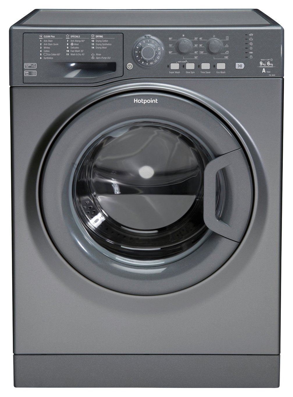Hotpoint FDL9640G 9KG/6KG Washer Dryer - Graphite