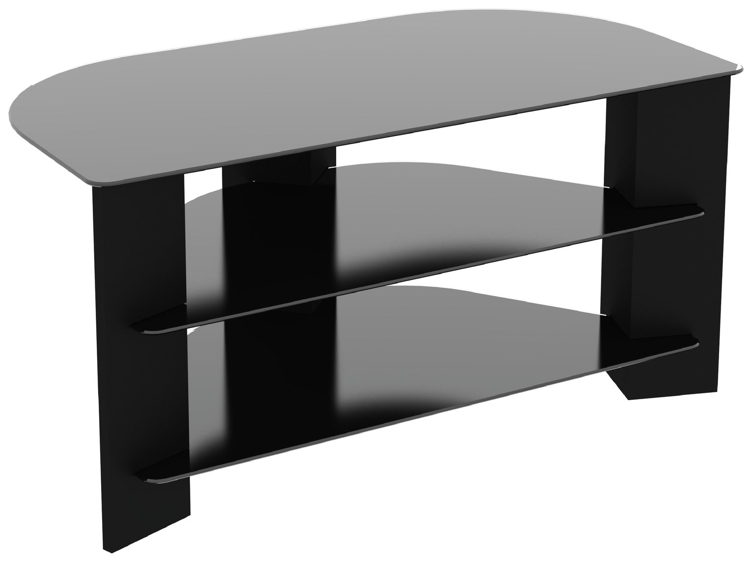 AVF Wood Effect up to 42 Inch TV Corner Stand - Black