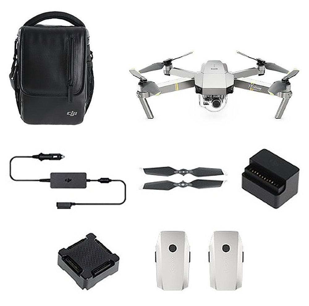 DJI Mavic Pro Platinum Drone Fly More Combo Kit - Grey