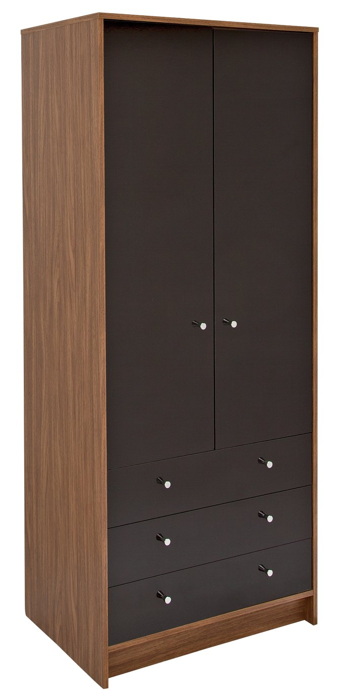 Argos Home Malibu Gloss 2 Door 3 Drawer Wardrobe