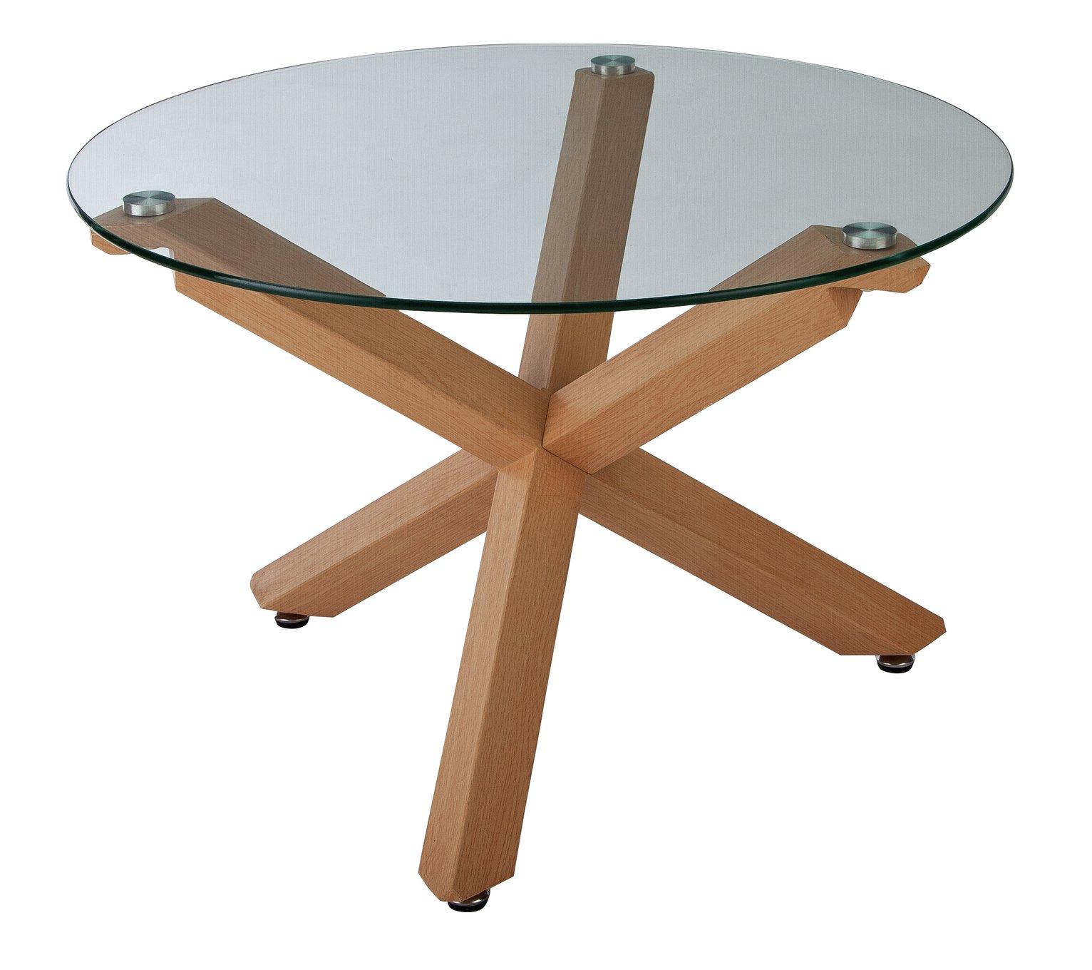 Argos Home Alden Cross Leg Coffee Table - Glass