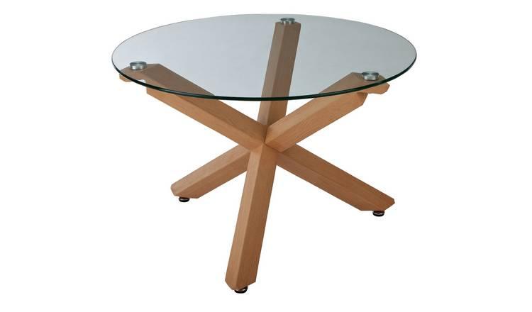 Buy Argos Home Alden Cross Leg Coffee Table Glass Coffee Tables Argos