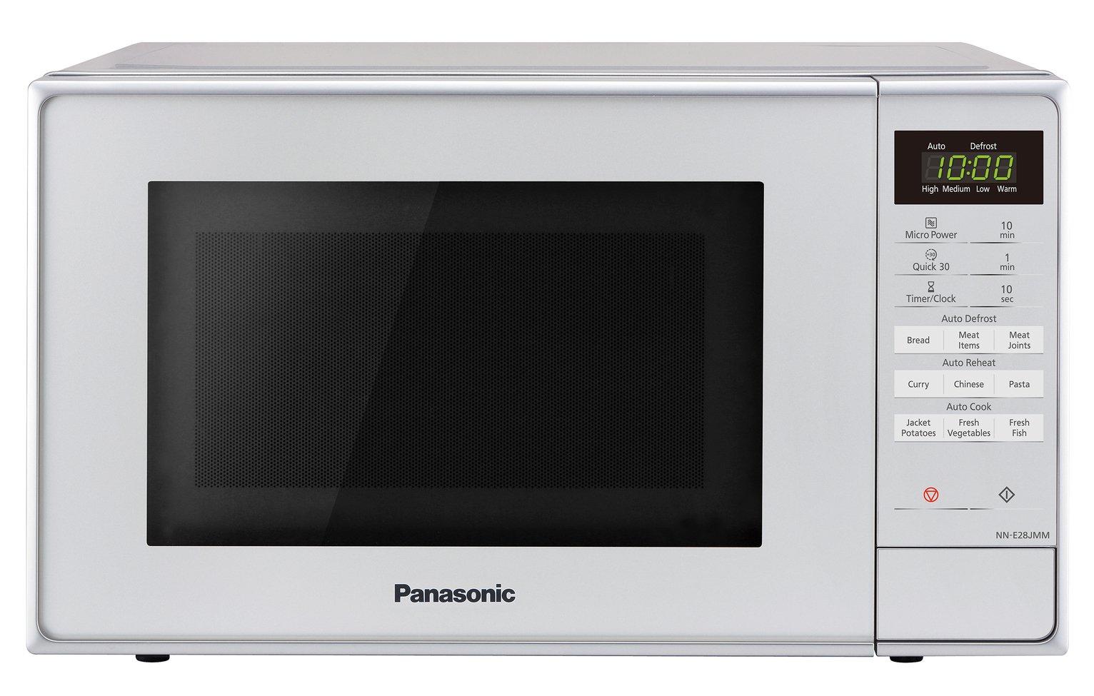 Buy Panasonic 800W Standard 20L Microwave NN-E28JMMBPQ - Silver | Microwaves | Argos