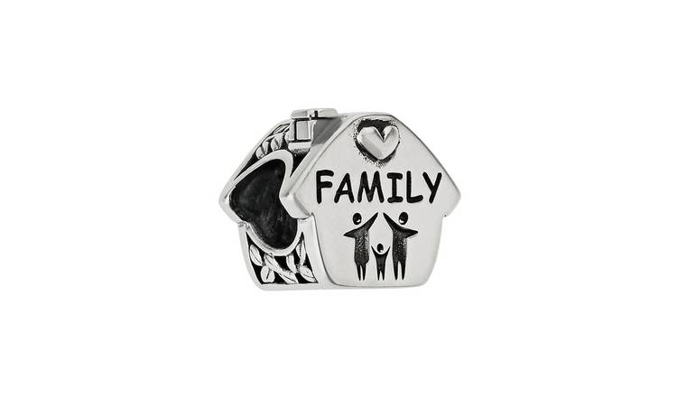 Moon & Back Sterling Silver Family House Bead