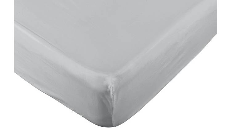 Argos Home Easycare 100% Cotton 28cm Fitted Sheet - Single