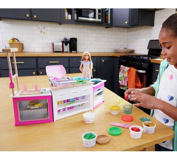 barbie kitchen playset with doll - Kitchen Play Set