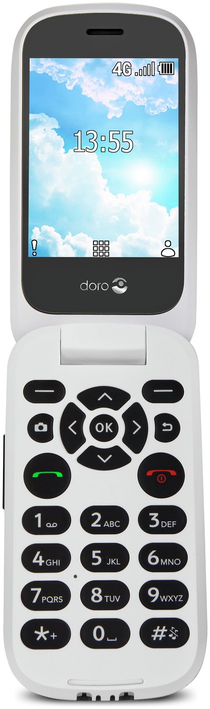 SIM Free Doro 7060 Mobile Phone - Black/White