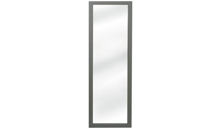 Argos Home Wooden Wall Mirror - Grey