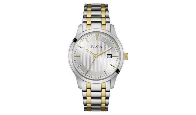 3505da8e78d Buy Bulova Men s Two Tone Stainless Steel Bracelet Watch