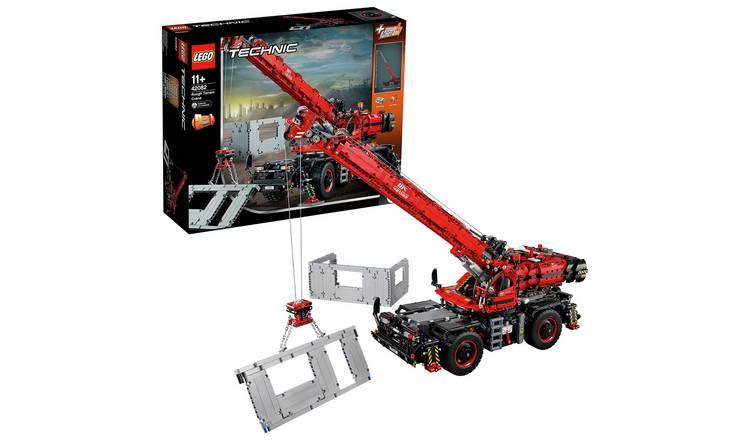 Buy LEGO Technic Rough Terrain Crane - 42082   LEGO   Argos