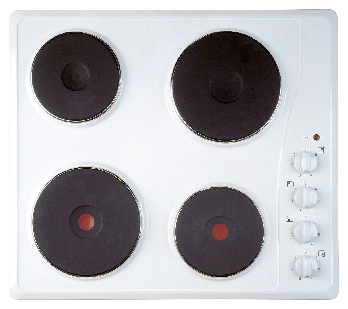 Indesit Ti60x Electric Solid Plate Hob - White