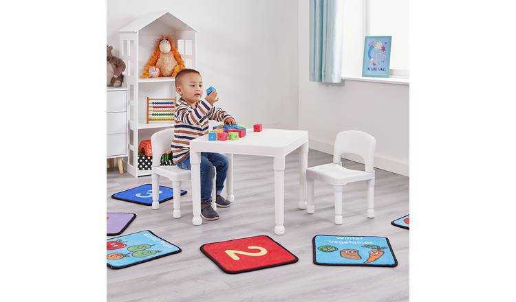 Liberty House Kids Table & 2 Chairs - White