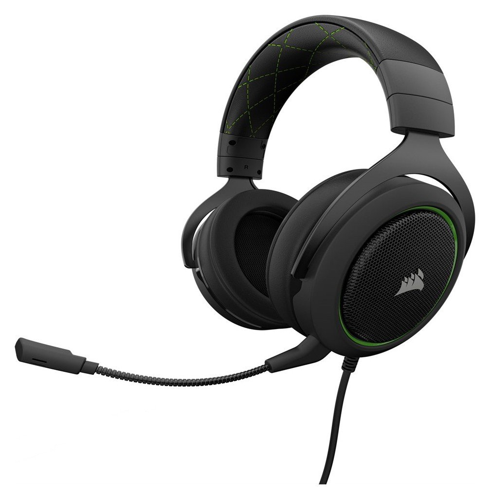 Image of Corsair HS50 Gaming Headset Xbox One/PS4/PC - Black/Green