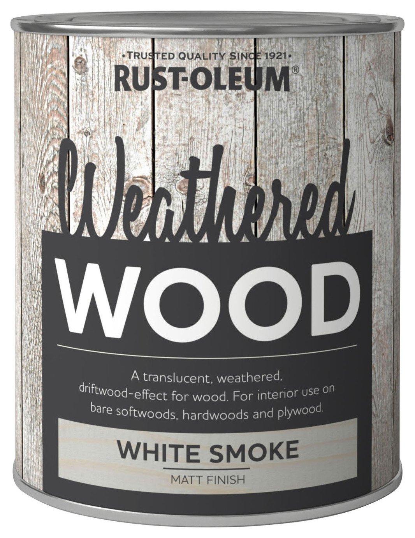 Rustoleum Weathered Wood Smoke Matt 750ml - White